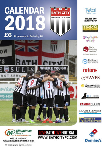 NEW! Bath City Calendar 2018