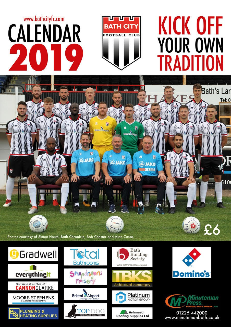 NEW! Bath City Calendar 2019