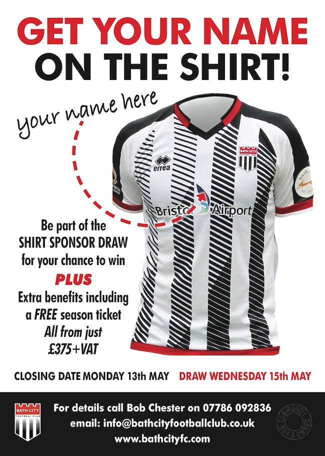 Shirt Sponsor Draw 2019-2020  **Deadline Monday 13th May**