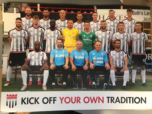 Bath City FC Team Poster 2018/19