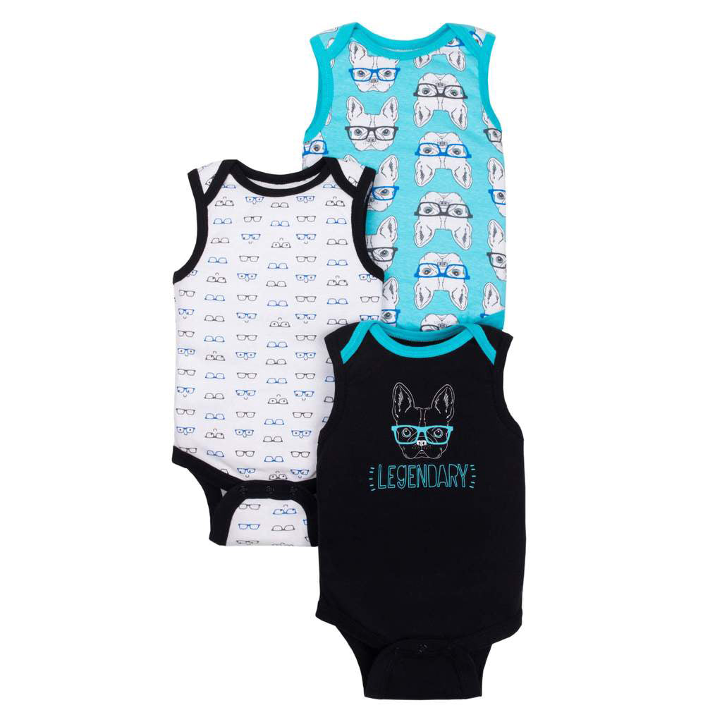 05ecc28e1 Little Star Organic Baby Boy Sleeveless Bodysuits