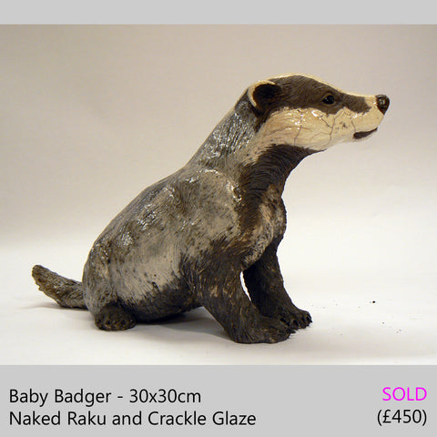baby badger sculpture