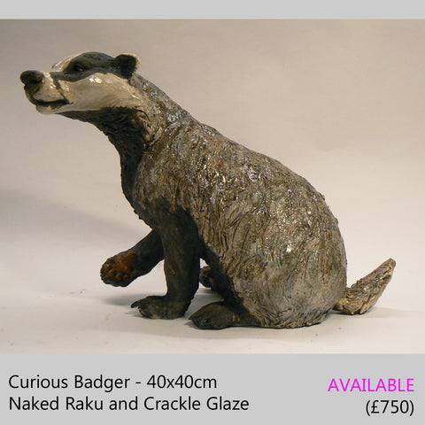 Large badger sculpture