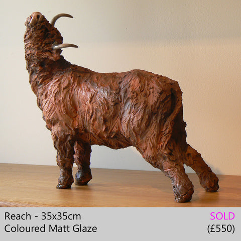 Highland cow sculpture