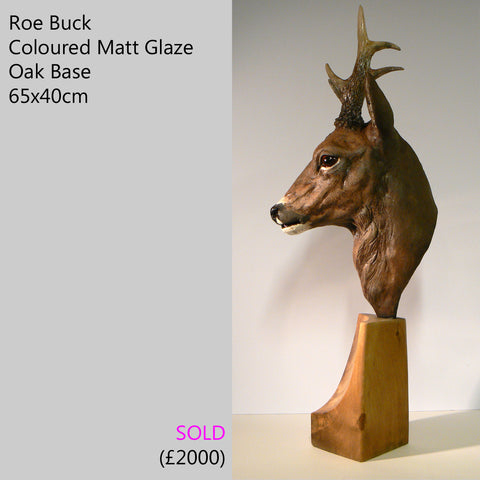 roe deer buck sculpture