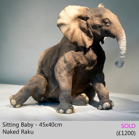 baby elephant sculpture, african elephant sculpture