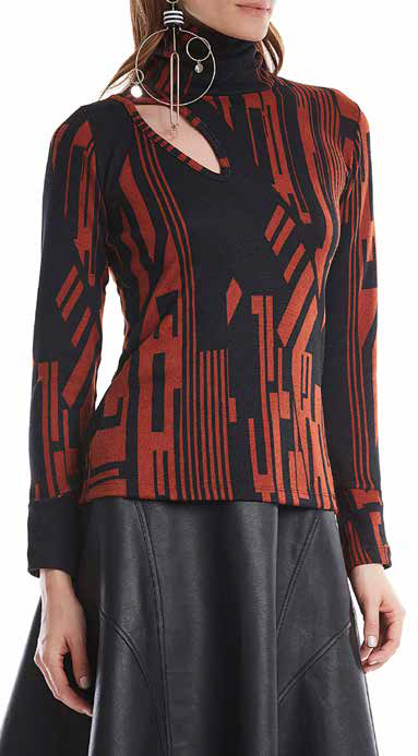 BLUSA ESSENTIAL ESTAMPA JACQUARD [MAR]