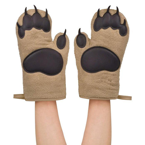 NEW | Grizzly Bear Hands Paw Oven Mitts