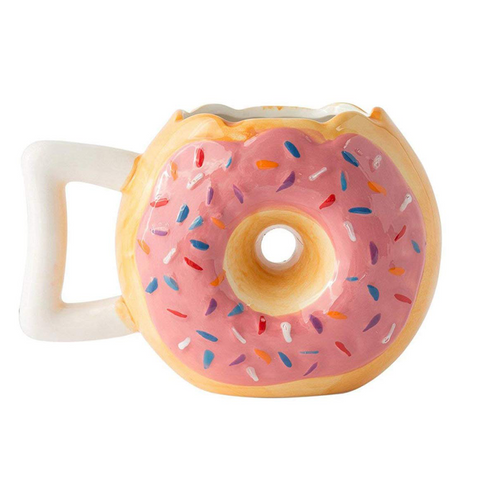 Ceramic Donut Coffee Mug
