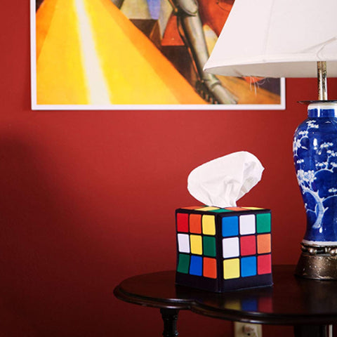 Rubiks Cube Tissue Box Cover Fan Memorabilia