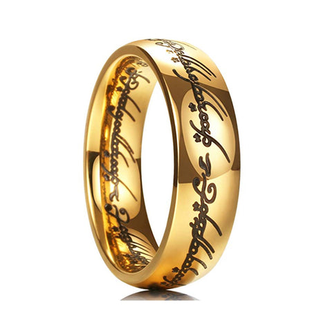 7mm Gold-Plated Classic Carbide One Ring