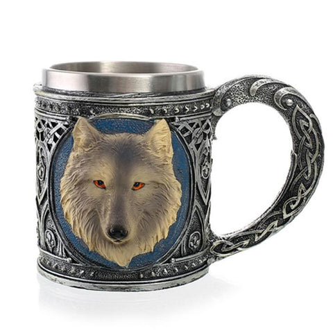 Ghostly Direwolf Mug