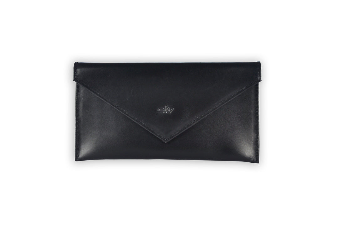 Verona Multi-purpose Leather Envelope in Black