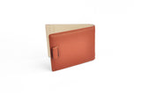 Bergamo Brown and Cream Slim Leather Money Clip