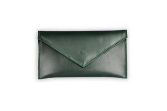 Verona Multi-purpose Leather Envelope in Green