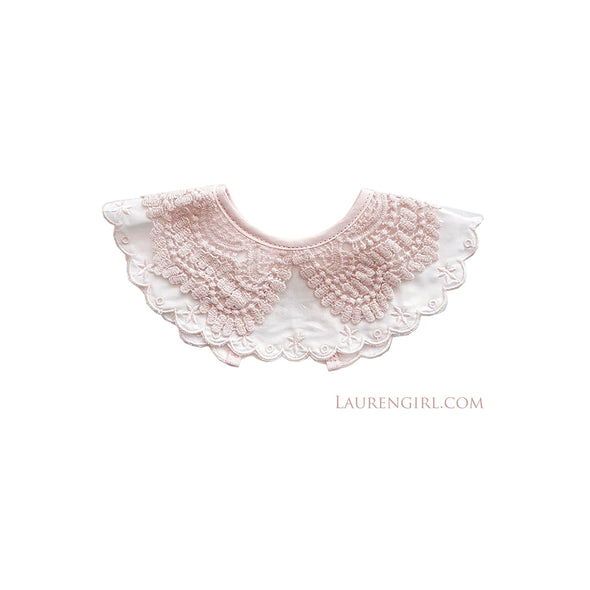 Pink Lace Collar Bib