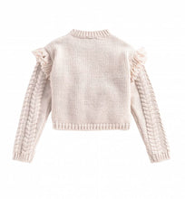 Load image into Gallery viewer, Cream Cable Knit Girls Sweater