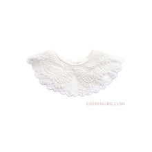 Load image into Gallery viewer, White Lace Collar Bib