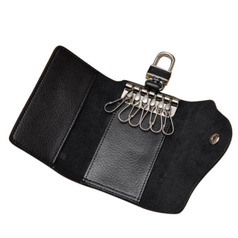 Snap Button Calf Leather Key Holder