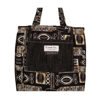"Heavy Duty Denim with Ankara Trim and Lining Tote Bags with Bottom Gusset (16""X16""X5"") Inches"