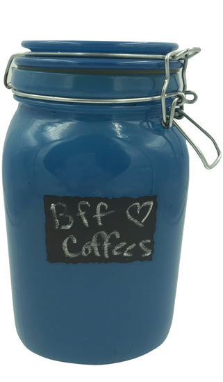 Coffee Canister - Large Blue