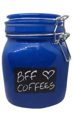 Coffee Canister - Small Blue