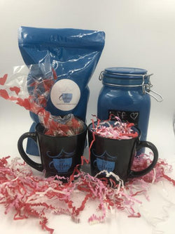 Valentine Gift Box - Bff Coffee, Canister, 2 Mugs & Chocolates