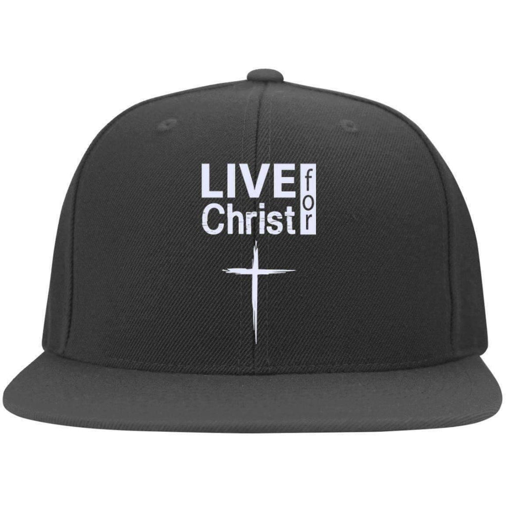 e04f1973d7ede Christian Cap - Live For Christ - 6297F Yupoong Flat Bill Twill ...