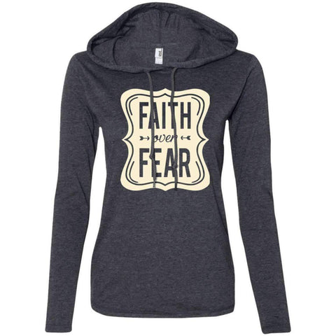 Hoodie - Faith Over Fear - Women's Christian T-Shirt Hoodie