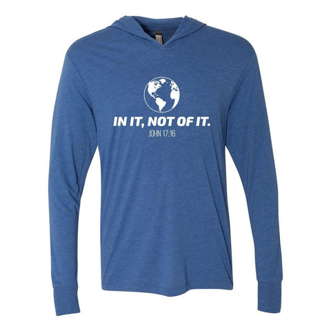 Image of Hoodie - In It, Not Of It Christian Tri-Blend Unisex T-Shirt Hoodie