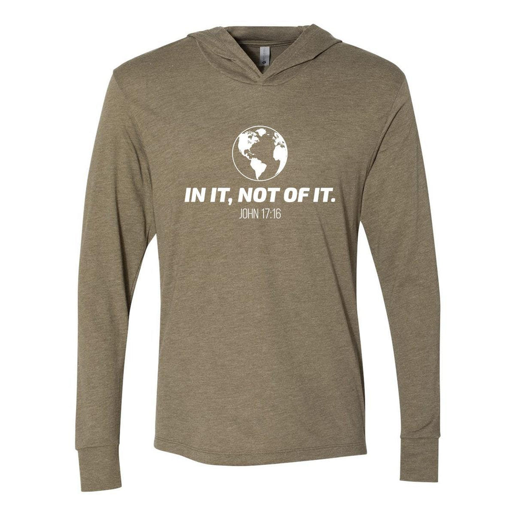 Hoodie - In It, Not Of It Christian Tri-Blend Unisex T-Shirt Hoodie