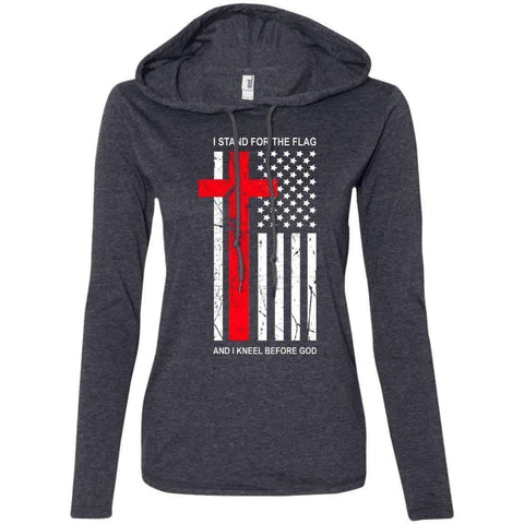Image of Hoodie - Kneel Before God Women's Christian Fitted T-Shirt Hoodie