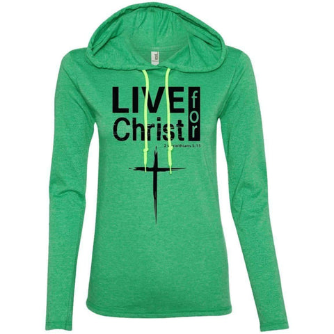 Hoodie - Live For Christ Women's Christian T-Shirt Hoodie