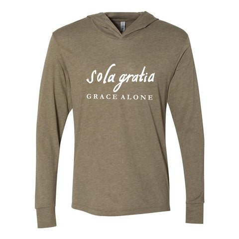 Image of Hoodie - Sola Gratia Grace Alone Christian Tri-Blend Unisex T-Shirt Hoodie