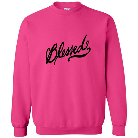 Image of Sweatshirts - Blessed Christian Crewneck Unisex Sweatshirt