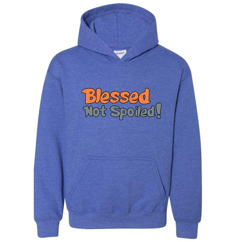 Image of Sweatshirts - Blessed Not Spoiled Youth Christian Sweatshirt Hoodie