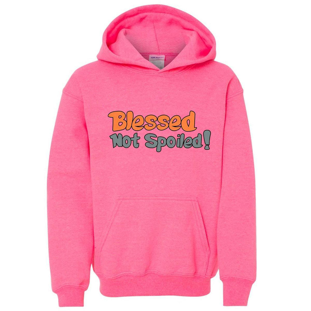 Sweatshirts - Blessed Not Spoiled Youth Christian Sweatshirt Hoodie