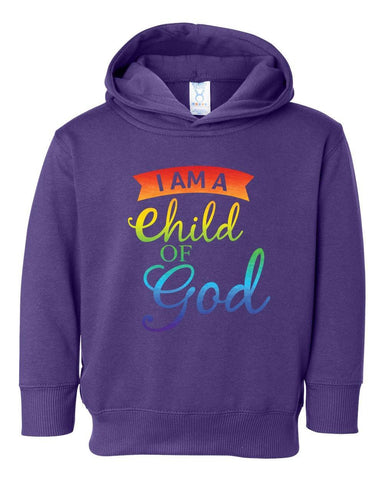 Image of Sweatshirts - Child Of God Toddler Christian Sweatshirt Hoodie