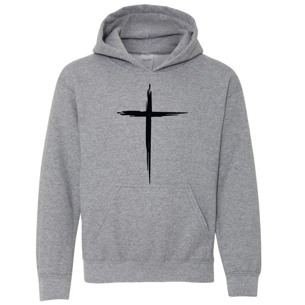 Sweatshirts - Cross Youth Christian Sweatshirt Hoodie