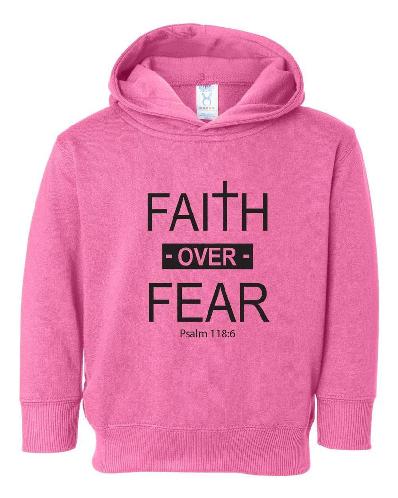Sweatshirts - Faith Over Fear Toddler Christian Sweatshirt Hoodie