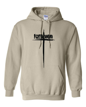 Forgiven Cross Christian Sweatshirt Hoodie