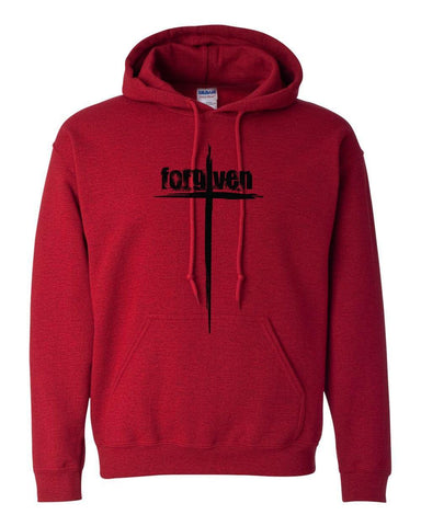 Sweatshirts - Forgiven Cross Christian Sweatshirt Hoodie