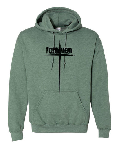 Image of Sweatshirts - Forgiven Cross Christian Sweatshirt Hoodie