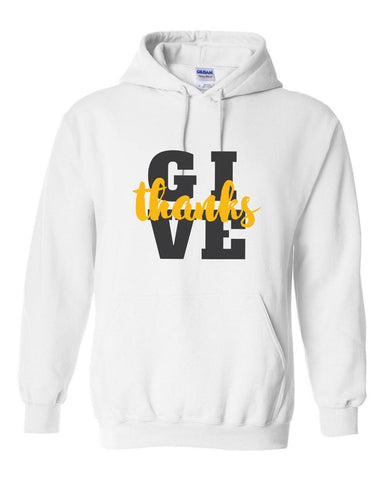 Image of Sweatshirts - Give Thanks Christian Sweatshirt Hoodie