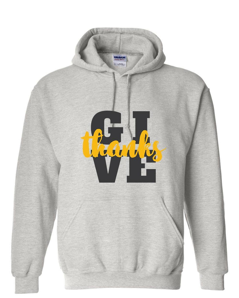 Sweatshirts - Give Thanks Christian Sweatshirt Hoodie