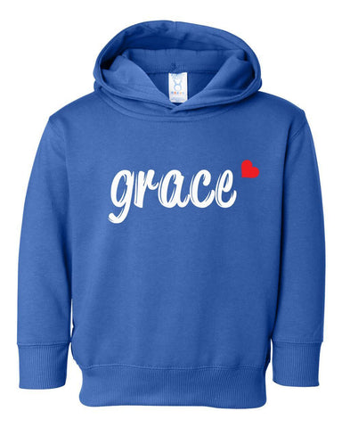 Image of Sweatshirts - Grace Toddler Christian Sweatshirt Hoodie