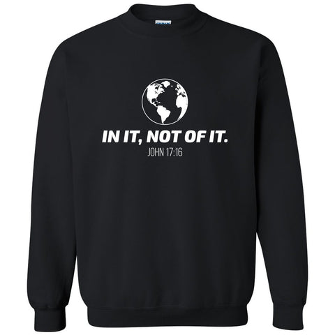 Image of Sweatshirts - In It, Not Of It Christian Crewneck Unisex Sweatshirt