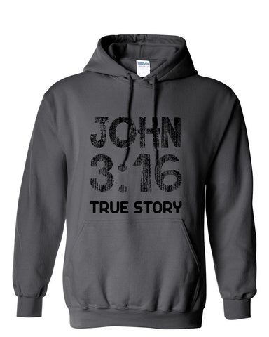 Image of Sweatshirts - John 3:16 Christian Sweatshirt Hoodie