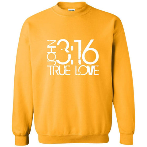 Image of Sweatshirts - John 3:16 True Love Christian Crewneck Unisex Sweatshirt