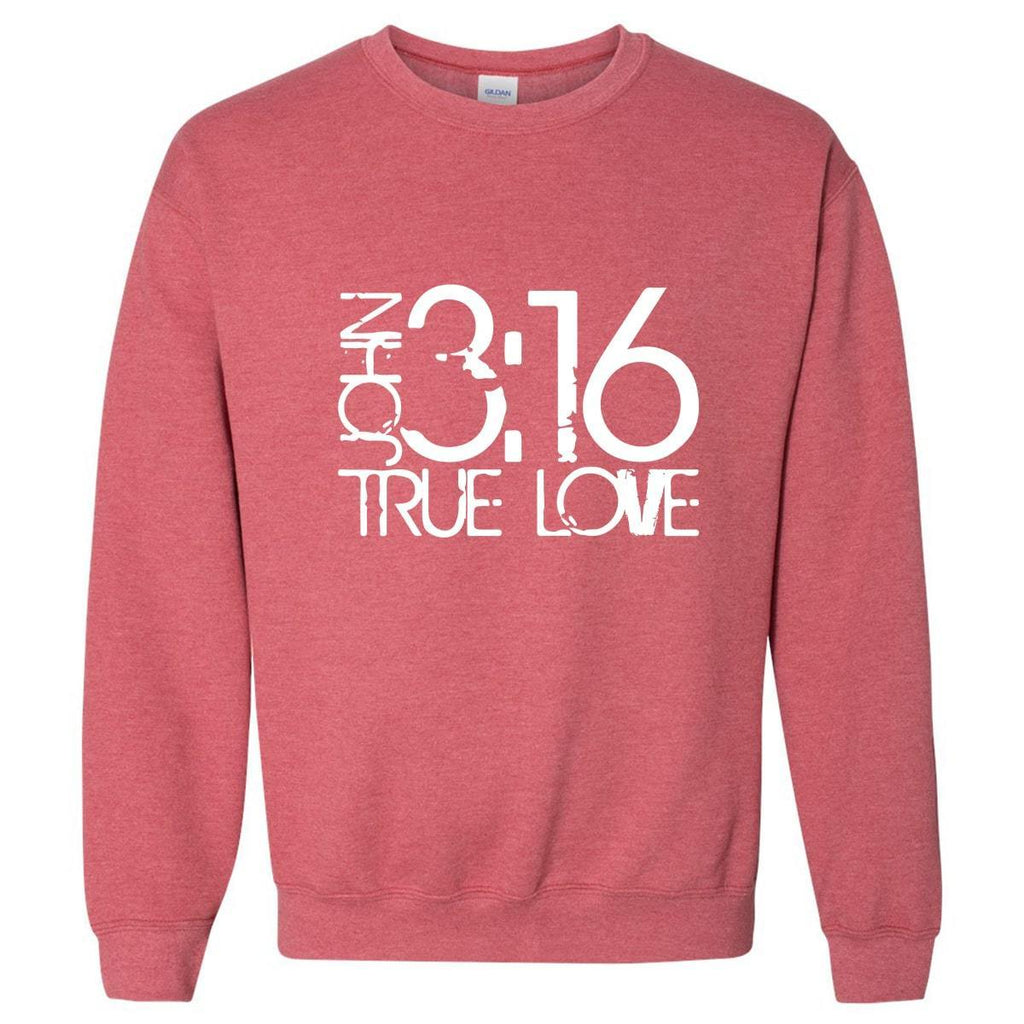 Sweatshirts - John 3:16 True Love Christian Crewneck Unisex Sweatshirt